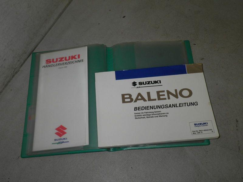 Bedienungsanleitung Handbuch Betriebsanleitung deutsch, 05/96, 3-Tür, 4-Tür, WagonSUZUKI BALENO