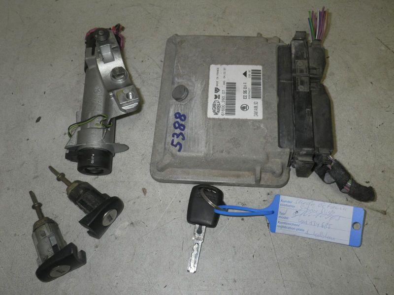 Schloßsatz 1 Schlüssel, Zündschloß, Tür R L, Steuerteil MotorSKODA OCTAVIA (1U2) 1.6