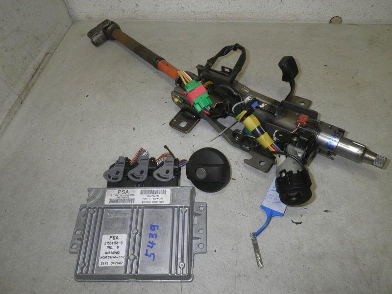 Lenksäule mit 1 Schlüssel, Zündschloß, Tankdeckel, Steuerteil Motor,CITROEN C3 PLURIEL (HB_) 1.4