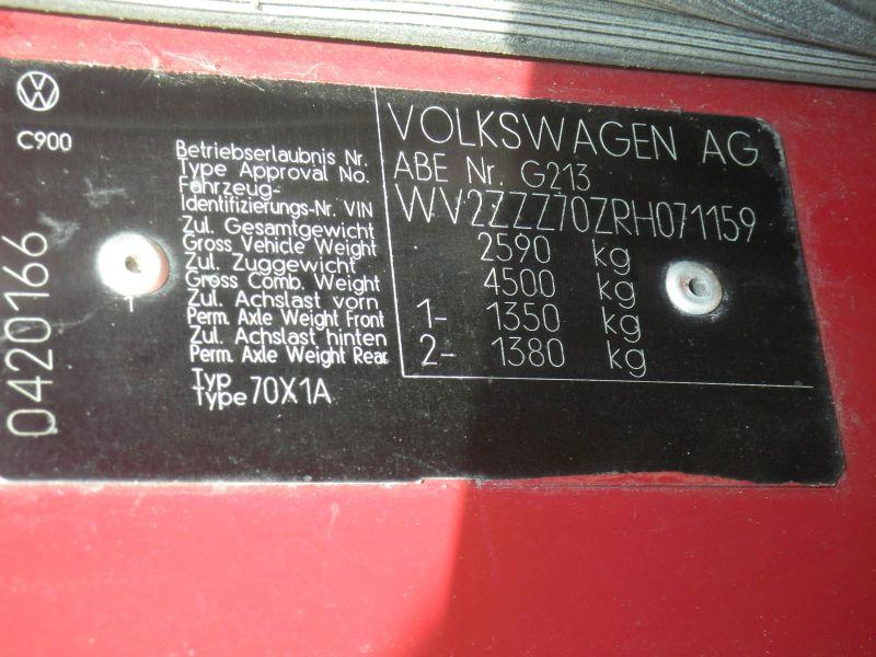 VW TRANSPORTER IV KASTEN (70XA) 2.4 D SYNCR